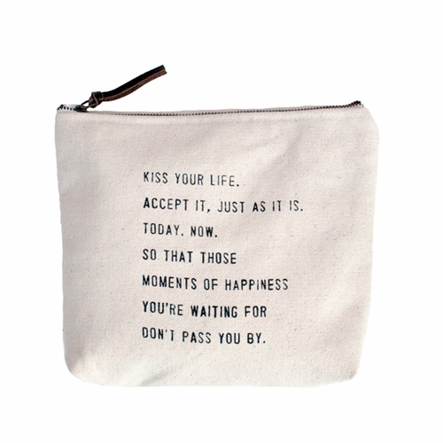 Kiss Your Life Canvas Bag by Sugarboo Designs