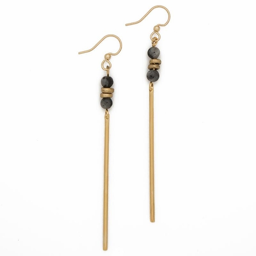 Labradorite Jerry Gemstone Earrings - Lenny & Eva