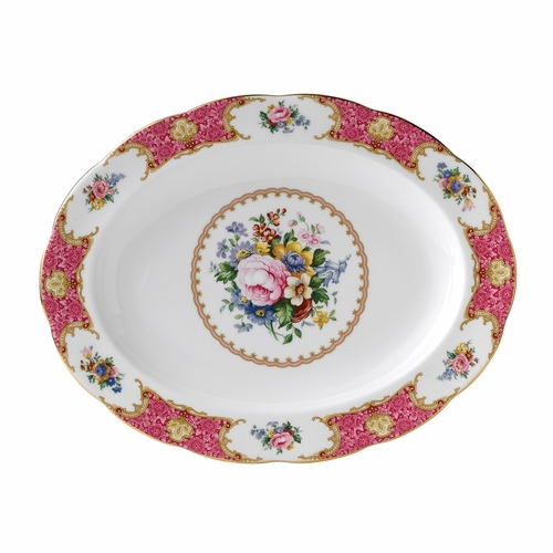 Lady Carlyle Medium Oval Platter by Royal Albert - Special Order