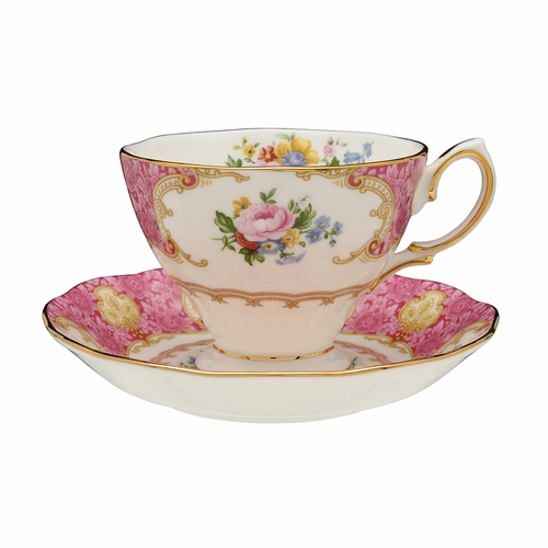 Lady Carlyle Teacup & Saucer Set Boxed Set by Royal Albert - Special Order