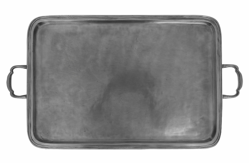 Lago Extra Large Rectangle Tray with Handles by Match Pewter