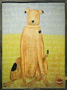 Large Brown Boy Dog Art Print Collection by Sugarboo Designs