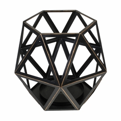 Large Geometric Candle Holder by Virginia Gift Brands | WoodWick Spring & Summer Clearance