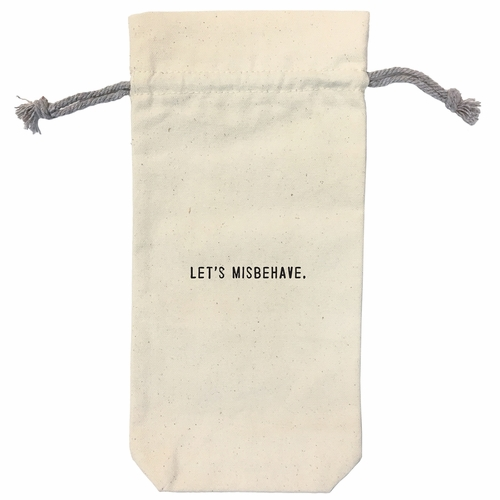 Let's Misbehave Wine Bag by Sugarboo Designs