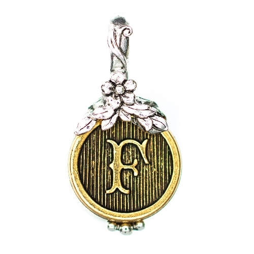 "Letter ""F"" Jardin Monogram Charm by Beaucoup Designs"