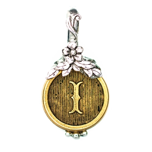 "Letter ""I"" Jardin Monogram Charm by Beaucoup Designs"