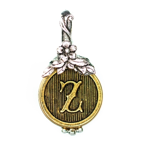 "Letter ""Z"" Jardin Monogram Charm by Beaucoup Designs"