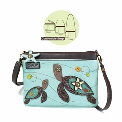 Light Blue Turtle Mini Crossbody Purse