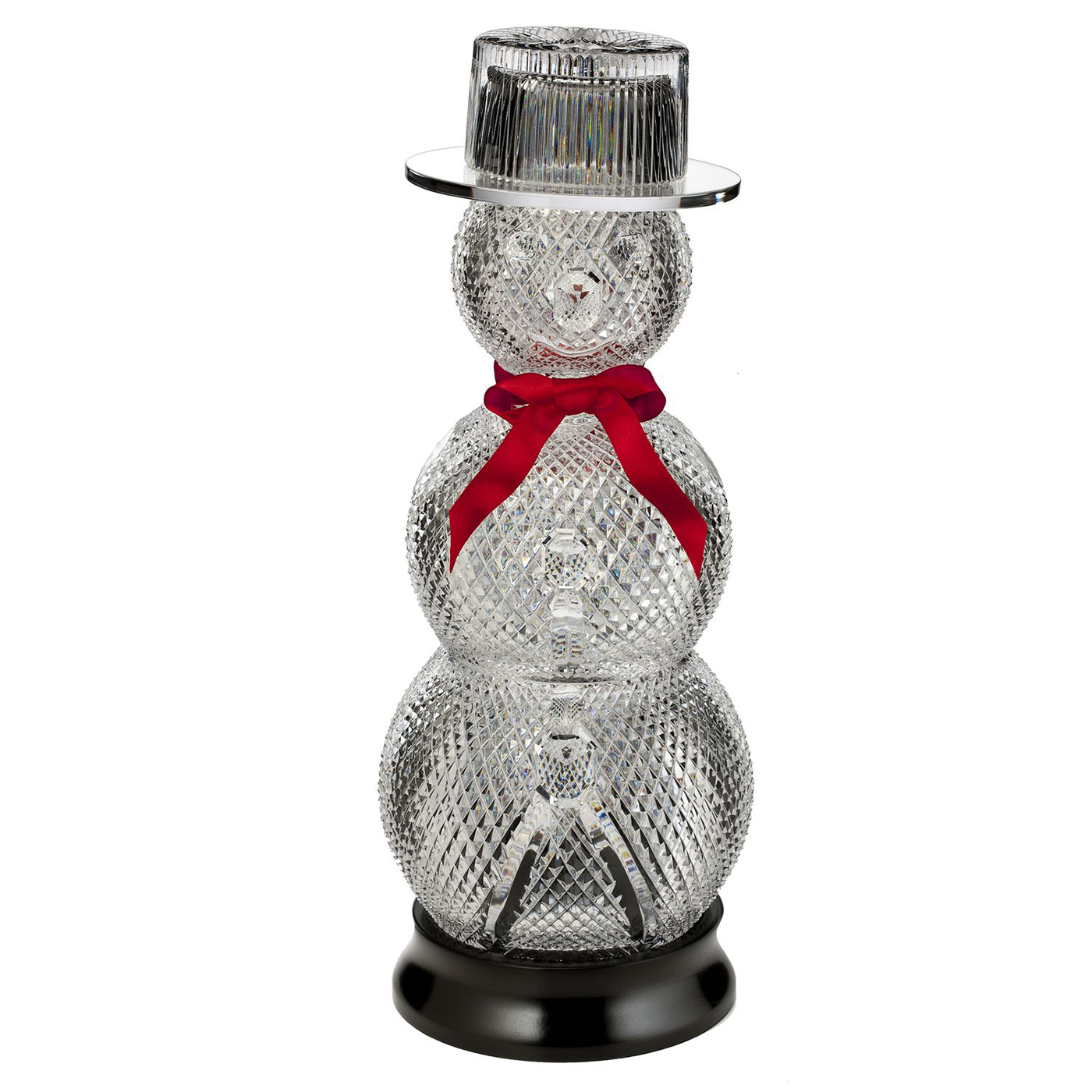 Limited Edition Luxury Christmas Ornaments: Limited Edition Sculpted Snowman Holiday Decor By Waterford