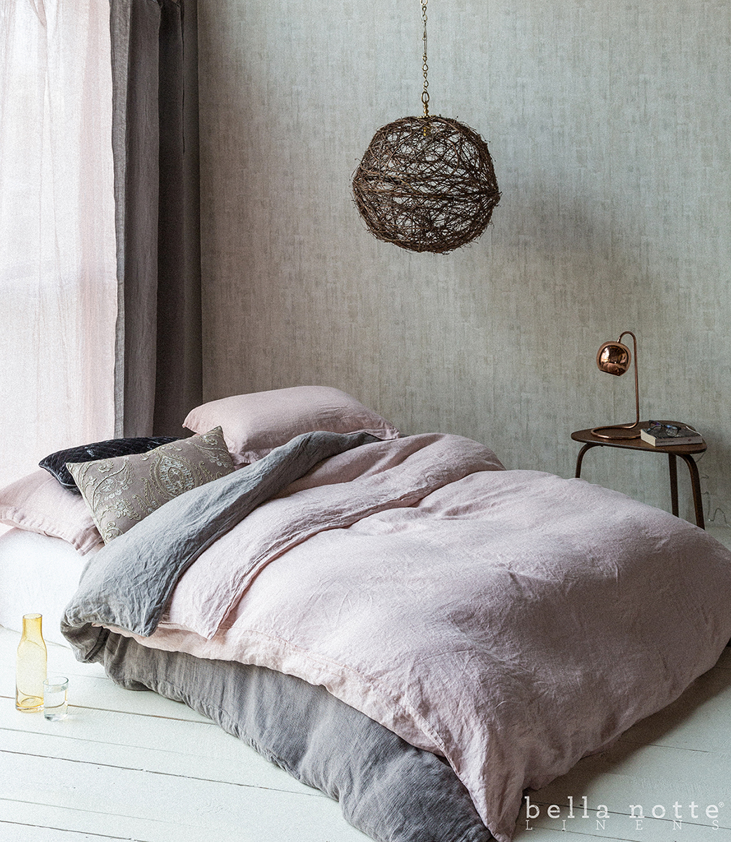 Linen Duvet Cover By Bella Notte