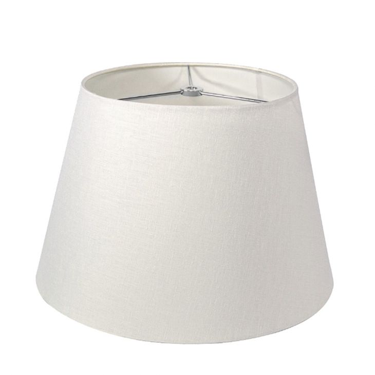 Linen pembroke white 16 lamp shade by simon pearce aloadofball Images