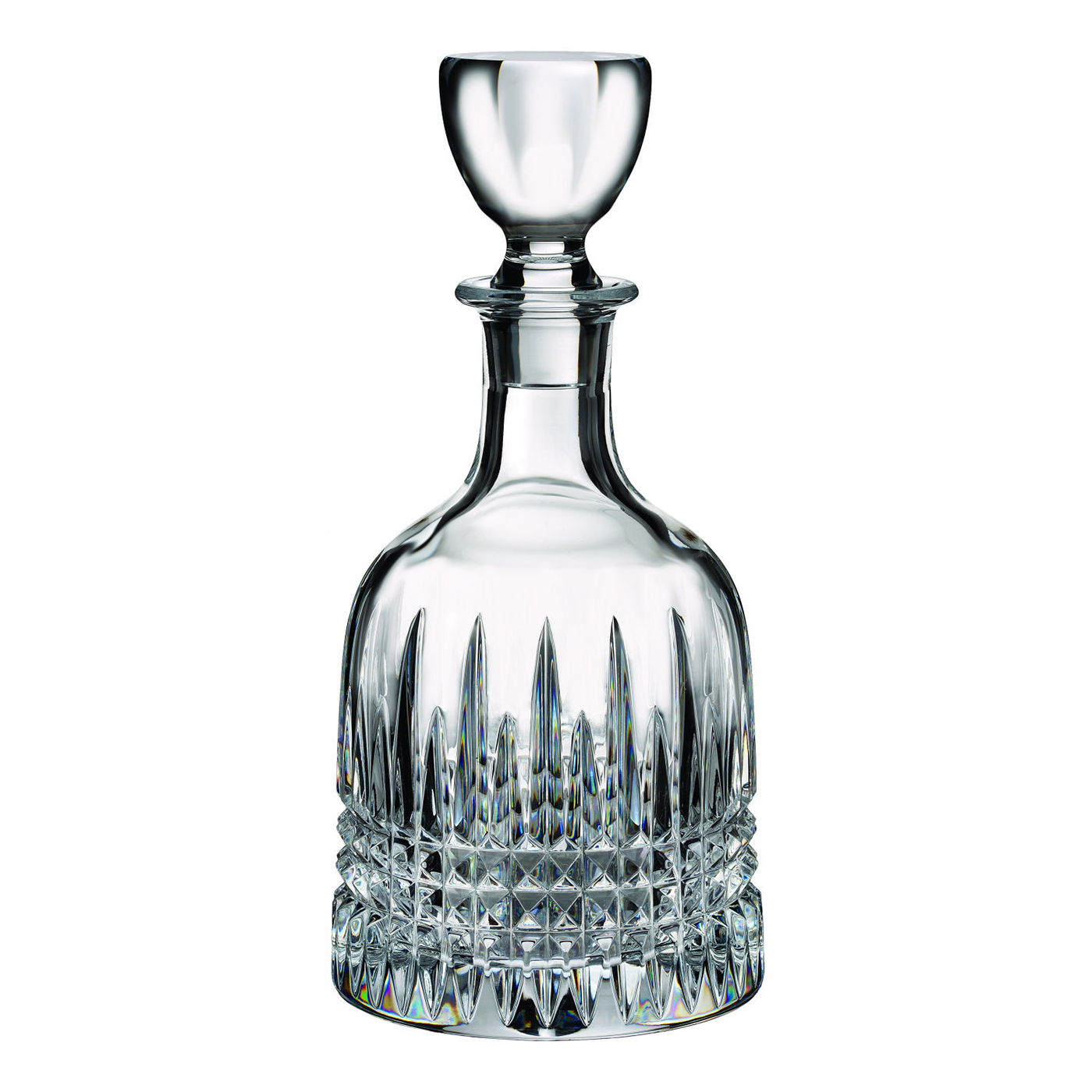 lismore diamond bottle decanter by waterford