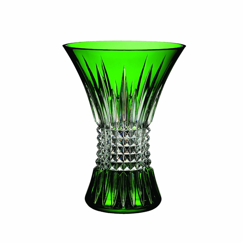 Lismore Diamond Emerald 8 Vase By Waterford