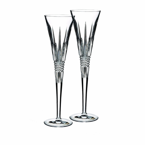 Lismore Diamond Toasting Flute Pair by Waterford - Special Order