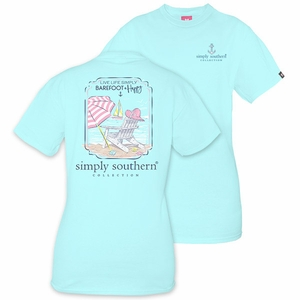 Live Life Simply Barefoot & Happy Marine Short Sleeve Tee by Simply Southern