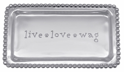 Live, Love, Wag Beaded Tray by Mariposa