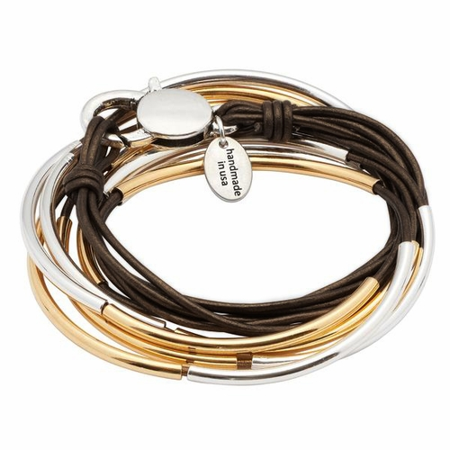Lizzy Classic Natural Antique Brown Medium Bracelet by Lizzy James