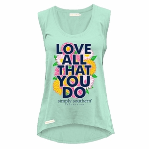 Love All That You Do Sea Tank Top by Simply Southern