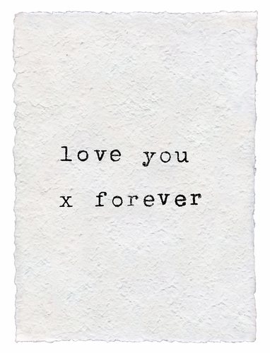 Love You X Forever Handmade Paper Print by Sugarboo Designs