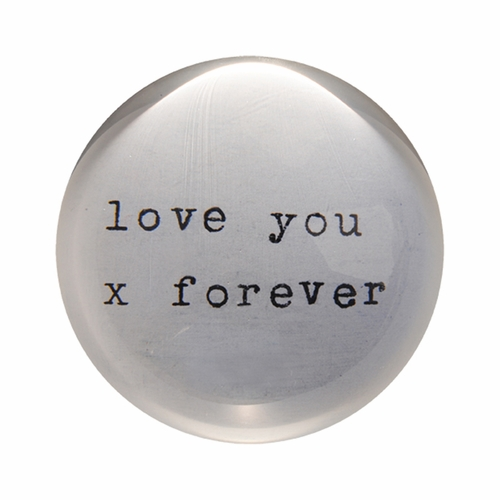 Love You X Forever Paper Weight (Set of 2) by Sugarboo Designs