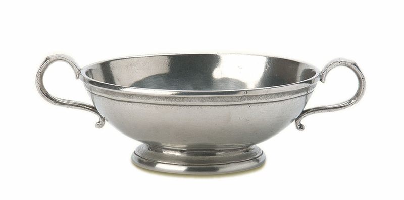 Low Footed Bowl With Handles By Match Pewter