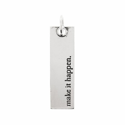 Make It Happen Antique White Large Bar Pendant by Benny & Ezra