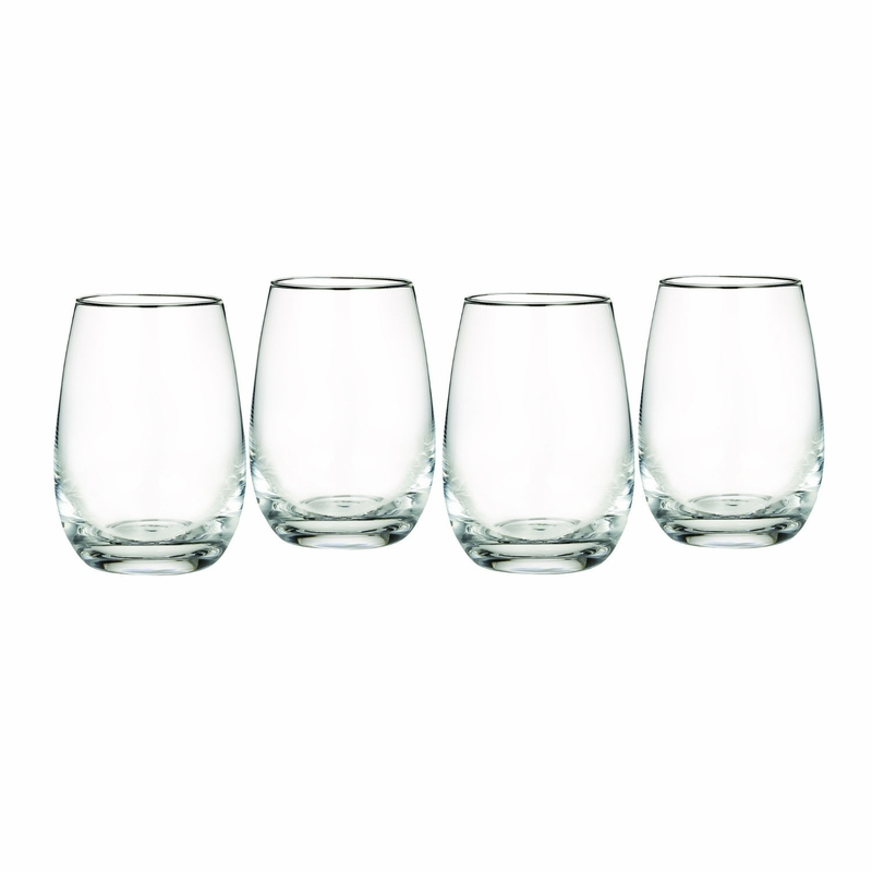Marquis Vintage All Purpose Stemless Wine Glass Set Of 4