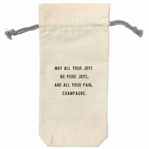 May All Your Joys Wine Bag by Sugarboo Designs