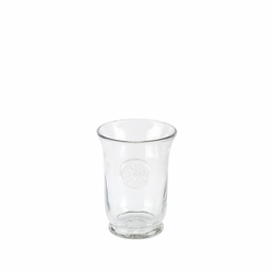 Medallion Grey Hammered Glass Highball - GG Collection