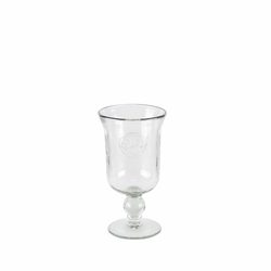 Medallion Grey Hammered Glass Water Goblet - GG Collection