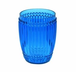 Milano Glassware Blue Small Tumbler by Le Cadeaux