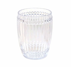 Milano Glassware Clear Small Tumbler by Le Cadeaux