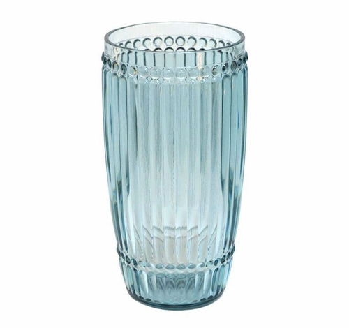 Milano Glassware Teal Large Tumbler by Le Cadeaux