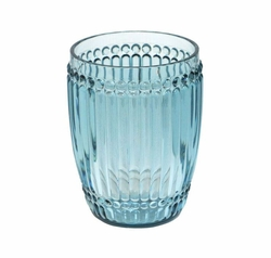 Milano Glassware Teal Small Tumbler by Le Cadeaux