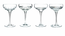 Mixology Assorted Clear Champagne Coupe Set of 4 by Waterford - Special Order