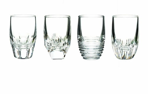 Mixology Assorted Clear Shot Glasses Set of 4 by Waterford - Special Order