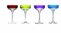 Mixology Assorted Color Champagne Coupe Set of 4 by Waterford - Special Order