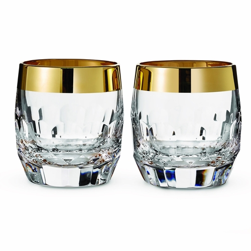 Mixology Mad Men Edition Draper Gold Band Double Old Fashioned Pair by Waterford