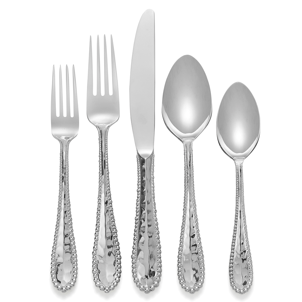 Molten 5 piece flatware set by michael aram - Flatware set with stand ...