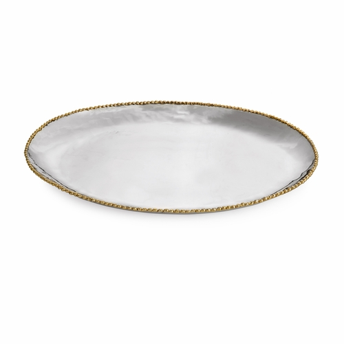 Molten Gold Large Oval Platter by Michael Aram