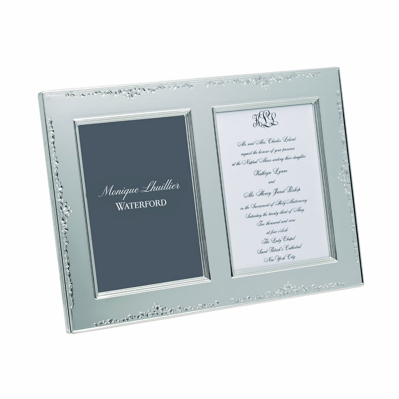 Monique Lhuillier Modern Love 5 X 7 Double Invitation Frame By Waterford