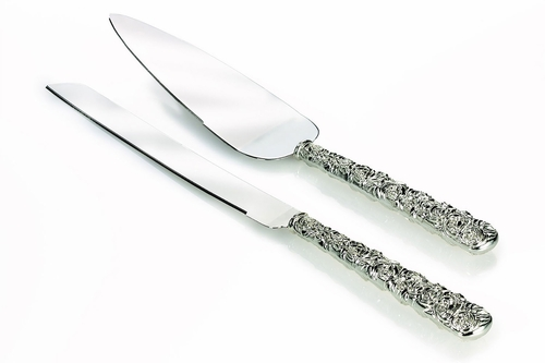 Monique Lhuillier Waterford Cake Knife And Server Sunday Rose