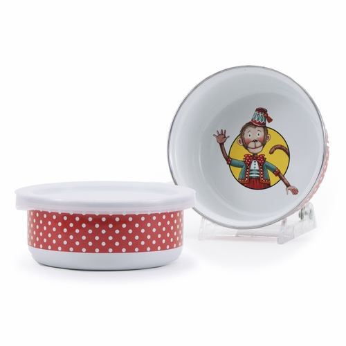 Monkey Child Bowl with Lid by Golden Rabbit