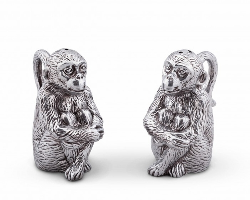 Monkey Salt & Pepper Set by Arthur Court