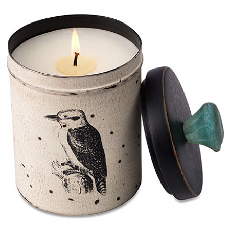 Kitchen Kingfisher Tin Candle By Himalayan Candles