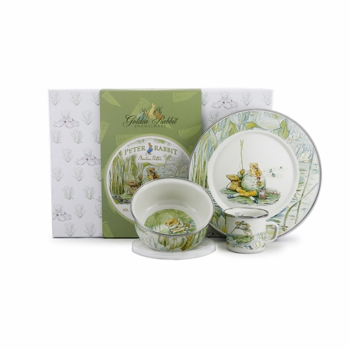 Mr. Jeremy Fisher 3-Piece Child Gift Set by Golden Rabbit