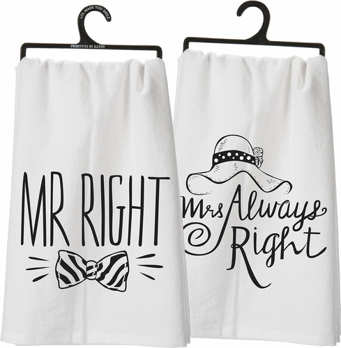 Mr./Mrs. Dish Towel  - Primitives by Kathy