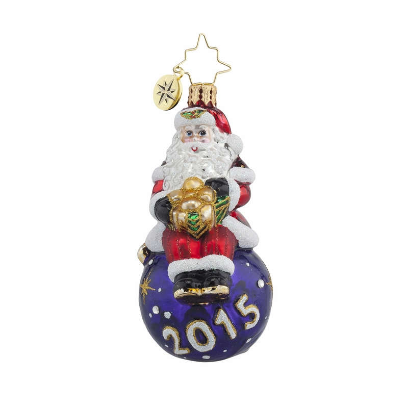 A Year For Cheer Little Gem Ornament by Christopher Radko
