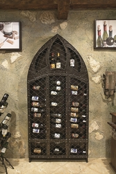 Amalfi 42-Bottle Wine Wall Rack by Bella Toscana