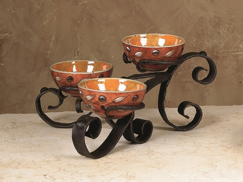 Amalfi Triple Bowl Server by Bella Toscana